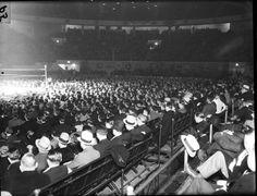 Olympia Stadium - Old photos gallery — Historic Detroit Olympia Stadium, Tiger Stadium, Wayne State University, Joe Louis, Basketball Photos, Detroit Free Press, Detroit News, Political Events, Event Photos