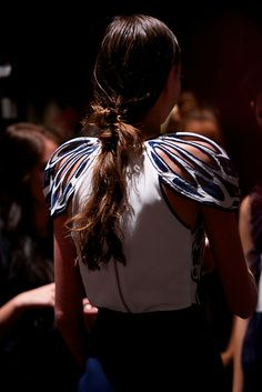 Backstage with ghd at Alice McCall at Australian Fashion Week - hair created by Sophie Roberts