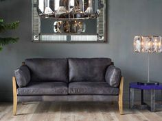 TIMOTHY OULTON BY HALO LOFFEE 2P SOFA(DESTROYED BLACK)