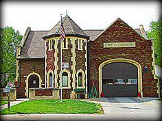 Vintage fire station (still in  use) in northeast Topeka, Kansas