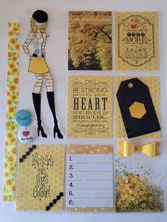 Pocket Letter Scrapbook Paper Flowers, Scrapbook Paper Crafts, Scrapbook Supplies, Prima Paper Dolls, Prima Doll Stamps, Book Crafts, Fun Crafts, Notes For Friends, Pocket Pal