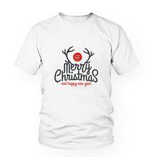 T Shirt For Men&Women 2016 Brand Clothing Casual T-Shirt Letter Printed Fashion Christmas Tshirt White Tees&Tops T-R10009(China (Mainland))