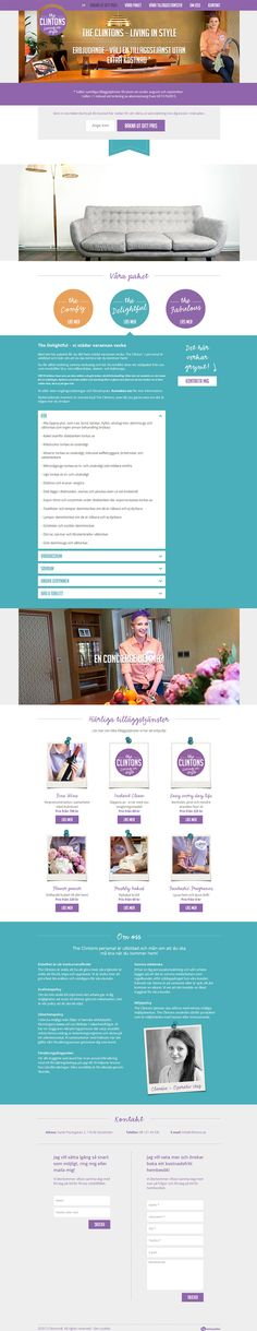 Clintons, the new hip cleaning company in Stockholm. Freshly baked bread when you come home? How about some wine or fresh flowers? Clitons does it all!  Dw Interactive design the profile and home page. We wanted to make something that was not to main stream in this sector, so we made a one page to make Clitons stand out. The page is also responsive and have some nice interactive elements.  By Dejan Mauzer / Dw Interactive  #flat #design #onepage #responsive #web