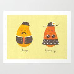 Fruit Genders Art Print by Teo Zirinis - $16.00