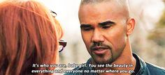 """This quote is so me.... Because when he validates your feelings he's so sincere it breaks your heart into a million tiny pieces and rebuilds it again with magic strips of heart-tape. 