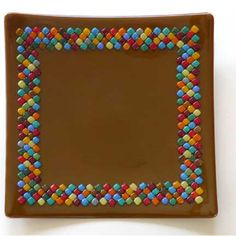 I like the mosaic border on this fused glass plate  Moonbeam Glassworks