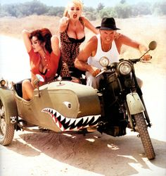 Russ Meyer and some vixens Russ Mayer, I Movie, Movie Stars, 1976 Movies, Side Car, Rita Moreno, Laura Palmer, Hammer Films, Old Motorcycles