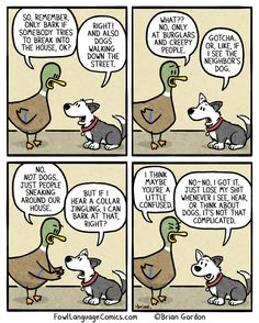 """To Bark or Not to Bark"" by Fowl Language Comics"