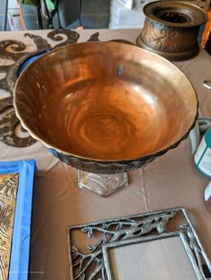How To Get A Patina On Metal Finish Using Dixie Belle Patina Paint. Patina Paint, Patina Metal, Patina Finish, Paint Companies, Dixie Belle Paint, Metal Finishes, Decorative Bowls, Wrought Iron, Easy