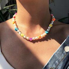 Trendy Necklaces, Trendy Jewelry, Cute Jewelry, Jewelry Ideas, Diy Jewelry, Jewelry Accessories, Cute Necklace, Boho Necklace, Flower Necklace