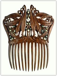 Paul Follot polychromed wood - between 1905 and 1910. Comb for Hair.   Musée d'Orsay, Paris, France.
