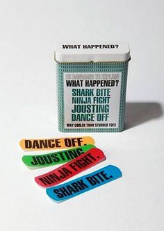 Explanation band aids...awesome..