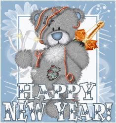 Happy New Year - Tatty Teddy - Ourson - Gif scintillant - Gratuit - Happy New Year Animation, Happy New Year Gif, Happy New Year Pictures, Happy New Year Quotes, Tatty Teddy, Teddy Images, Teddy Bear Pictures, New Year Wishes, New Year Greetings