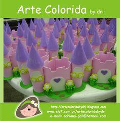 Arte Colorida: Centro de mesa, castelinho das princesas...