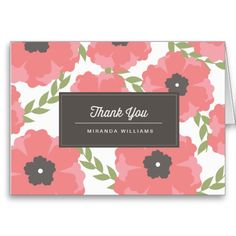 Shop Signature Pink Paper Flowers Thank You Cards created by origamiprints. Thank You Card Template, Custom Thank You Cards, Pink Paper, Smudging, Paper Flowers, Paper Texture, Lettering, Create, Prints