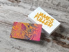 Custom business card design from Primoprint. The Inline Foil makes the design pop off the card.