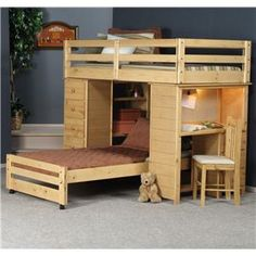 Bunkhouse Twin Full Roundup Loft Bed By Trendwood Bunk