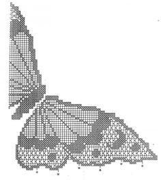 Farfalla a filet Buona giornata a tutte amanti dell'uncinetto! Oggi voglio proporvi lo schema per fare una farfalla a filet. La farfal...