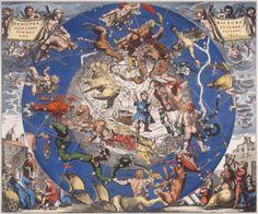 Hemisphae Alis Coeli Spaeri Grarii Bore et Terre Casceno Phia, 1660 by Hendrik Hondius