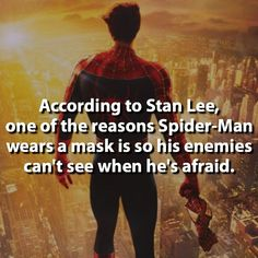 Makes me love Spider-Man even more ♡ It makes him more human ^^