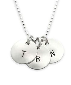 Look at this Jenny Present Sterling Silver Initial Triple Pendant Necklace on #zulily today!