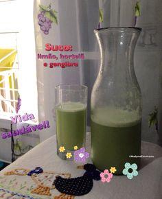 Suco detox: limão, hortelã e gengibre. Refrescante, termogênico e delicioso!