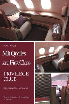 Mit dem Privilege Club von Qatar Airways Meilen sammeln und Premium Flüge erhalten. Mit Qmiles zur First Class.