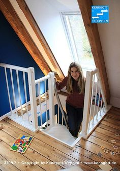 Stairs/Ladder design to get to attic loft space. Staircase ...