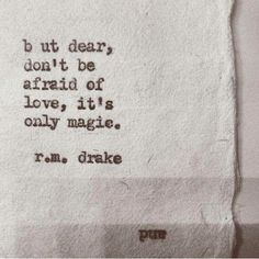 R.M. Drake quote onLove