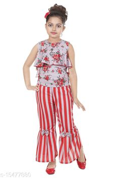 Clothing Sets Rose Print Red Top Fabric: Cotton Blend Bottom Fabric: Cotton Blend Multipack: Single Sizes: 4-5 Years, 5-6 Years, 3-4 Years, 8-9 Years, 6-7 Years, 7-8 Years, 9-10 Years Country of Origin: India Sizes Available: 2-3 Years, 3-4 Years, 4-5 Years, 5-6 Years, 6-7 Years, 7-8 Years, 8-9 Years, 9-10 Years   Catalog Rating: ★3.9 (609)  Catalog Name: Cute Elegant Girls Top & Bottom Sets CatalogID_3086344 C62-SC1147 Code: 363-15477880-009