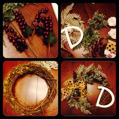 DIY Christmas wreath $30 supplies