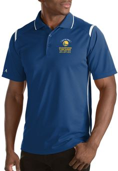 Antigua Men s 2018 NBA Champions Golden State Warriors Merit Royal  Performance Polo 3c2362981