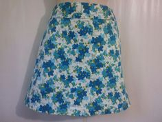 ANN TAYLOR Size 8/10 Golf Skort Blue floral turquoise green skirt/shorts  #AnnTaylor