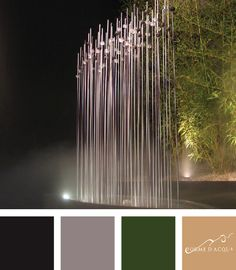 Water and luxury Installation | arch. S.M. Favoring | The Bamboo fountain consists of a stylized piece of bamboo with an internode made of Murano glass tubes that were hand cut by the master A. Mandruzzato | Luxury & yachts - Verona