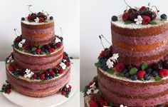 Piece of Cake Naked Wedding Cake Home-made look