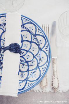charming blue + white.