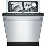 """Bosch SHX3AR75UC Ascenta 24"""" Wide Fully Integrated Built-In Dishwasher with 6 Wash Cycles 14 Place Settings Delay Start 24/7 Overflow Leak Protection 50 dBA Silence Rating in Stainless"""