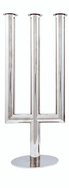 Franz Hagenauer . Candelabr . Nickel plated brass . Design 1930