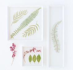 Pressed Flower Serving Dish - We compiled a list of 39 other DIY pressed flower ideas for you to make | Coolcrafts.com