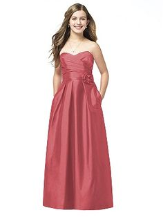 Alfred Sung Junior Bridesmaid style JR505 http://www.dessy.com/dresses/junior-bridesmaid/jr505/ Here it is in Candy Coral for Devon