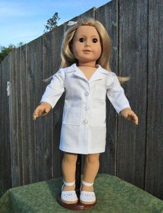 40bce92595b 18 inch Doll Clothes American Made Girl Boys Kid Doctor Dr Vet Nurse Lab  Coat Scrubs Doll Accessories Doll Dresses Gifts Under 30 Ready Made