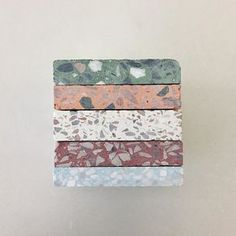 stack of terrazzo samples