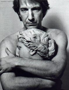 Now I know why the angels weep, Alan Rickman needs to huggle them.