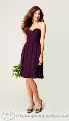 Chiffon Bridesmaid Dresses Sydney in Eggplant @samantha Shea yes I do love this material!!!!