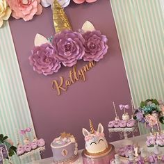 This time I want to share with you some ideas for fashionable children's parties that can inspire you to decorate and organize birthday parties for Unicorn Birthday Parties, Unicorn Party, Baby Birthday, Birthday Party Themes, Unicorn Cupcakes, Birthday Ideas, Birthday Stuff, Baby Shower Unicornio, Party Stuff