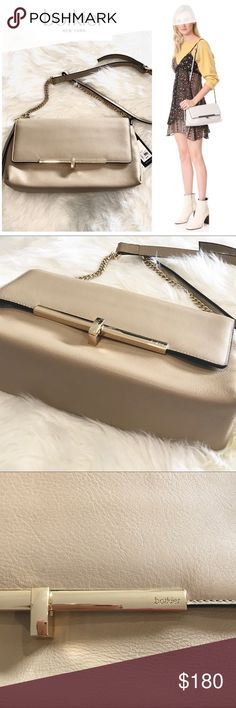"🆕 BOTKIER Saddie Crossbody Clutch Leather Handbag Brand new with tags - high end Botkier Saddie Crossbody Clutch leather handbag in wheat color - beige with gold accents. In perfect new condition. Stunning handbag!   Retails for $278 Approximate measurements  12"" long - 6"" high - 3"" wide  ✅All items in my closet are either NEW or in excellent condition - any signs of wear are minimal and will be detailed on pictures and description. ✅ Very clean and smoke free home.  ✅Make me an offer and…"
