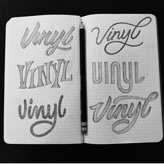"""Some lovely """"vinyl"""" sketches by @tolbest.  #StrengthInLetters #Goodtype"""