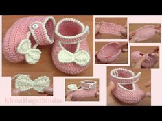 In this crochet video tutorial I will show you how to crochet button buckle bow shoes for a little baby girl. Crochet baby shoes has 2 parts. In part 1 we begin to crochet basic of shoes is sole. Booties Crochet, Crochet Sole, Crochet Baby Sandals, Baby Girl Crochet, Baby Booties, Crochet Yarn, Crochet Hooks, New Baby Crafts, Homemade Baby Toys