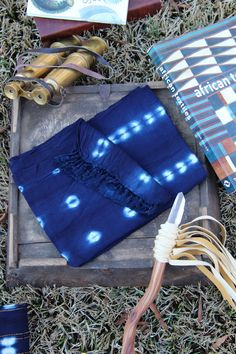 INDIGO: the color that seduced the world.  Small African Indigo Cloth, Hand Dyed Batik from Burkina Fasso // from WomanShopsWorld #indigo