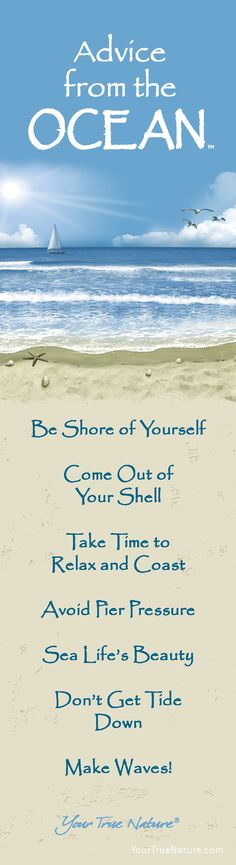 Advice from the Ocean- Bookmark- Your True Nature